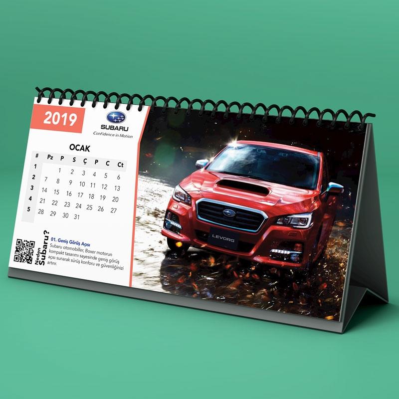 Subaru - Masa Takvimi Çalışması